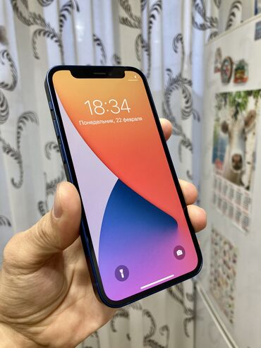 Apple Iphone - Состояние: Б/У - Бишкек: Б/У iPhone 12 mini 64 ГБ Синий