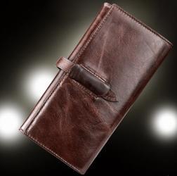 красный женский кошелек в Кыргызстан: Стильный мужской кошелек портмоне из натуральной кожи +бесплатная