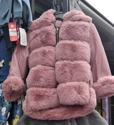 Decija zenska jakne cena 3000 iz unutra postavjena krznom velicine od