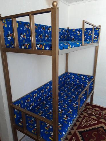 Детская мебель в Сокулук: Продаю новый,Детские двухьярусные кроват из трубоквадрат,зделано