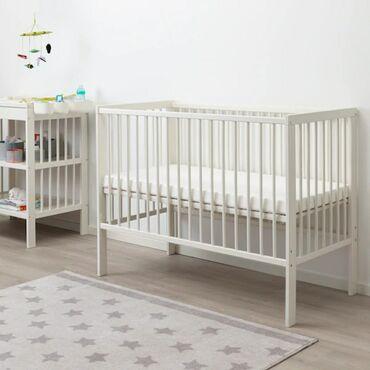 бу детские кроватки в Кыргызстан: ГУЛЛИВЕРКроватка детская, белый, размер 60x120 смПродам детскую