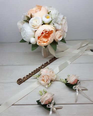 Свадебный букет невесты Цветы искусственные, хорошего качества Цена за