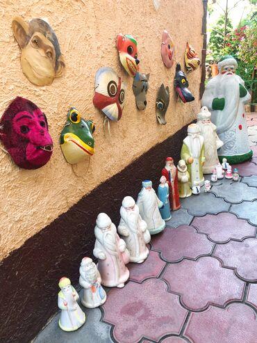 Антиквариат - Кыргызстан: Куплю новогодние маски герлянды ссср . Дед Морозов и снегурочек ссср