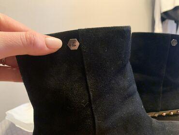 купить женскую обувь недорого в Кыргызстан: Ботинки фирмы Basconi, натуральная замша размер 38, надевала раз 15