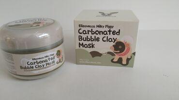 Корейская маска, пузырится  перед нанесением, нужно помыть лицо и вете