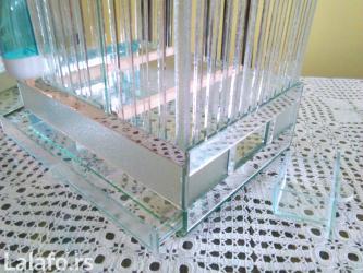 Stakleni kavezi 35x25x25 odličan za čuvanje ptica pevačica, sitnih - Nis