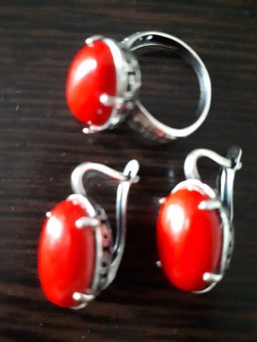 Продаю новый серебр  комплект, кольцо18размер! в Бишкек