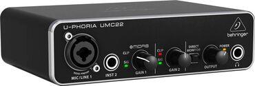 студийный микрофон бишкек in Кыргызстан   СТУДИЙНЫЕ МИКРОФОНЫ: BEHRINGER U-PHORIA UMC22- USB-аудиоинтерфейс, 2 входа, 2 выхода