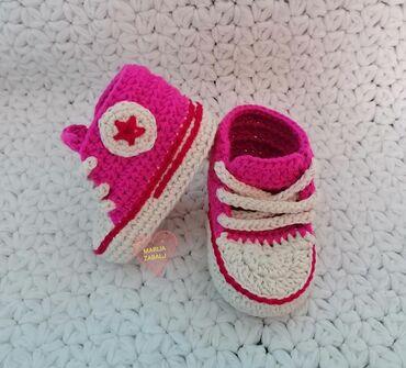 Dečije Cipele i Čizme | Zabalj: 800 dinaraHeklane bebi starkeRučno heklane od pamučnog konca. Rađene