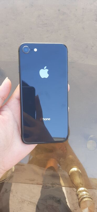 Электроника - Кара-Балта: IPhone 8 | 64 ГБ | Черный (Jet Black) Б/У | Гарантия, Отпечаток пальца, Face ID