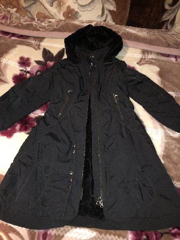 утепленное пальто в Кыргызстан: Демисезонное пальто 44 размера с утепленным подкладом