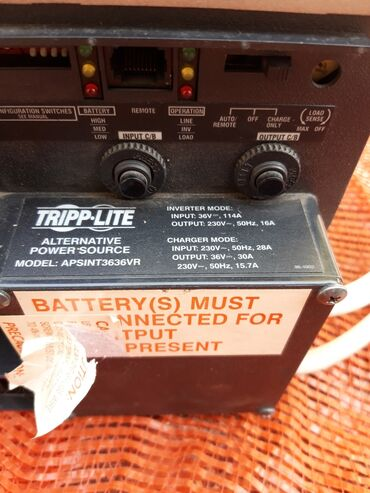 Инвертор tripp lite для бесперебойного электро питания 36/220. 3,6kv,в