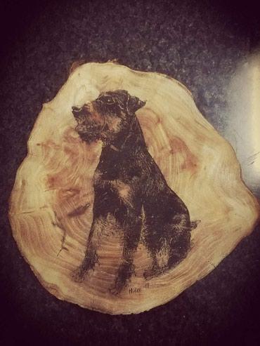 Portreti izrada na drvetu sa likom vase fotografije karbonskim - Pirot