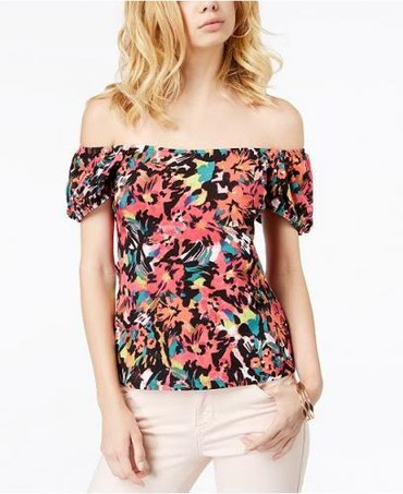 GUESS Fernanda Off-The-Shoulder Puffed-Sleeve Top. Размер S. в Бишкек