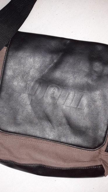 Muska torba...kombinacija koze i platna...nekoriscena... - Bor