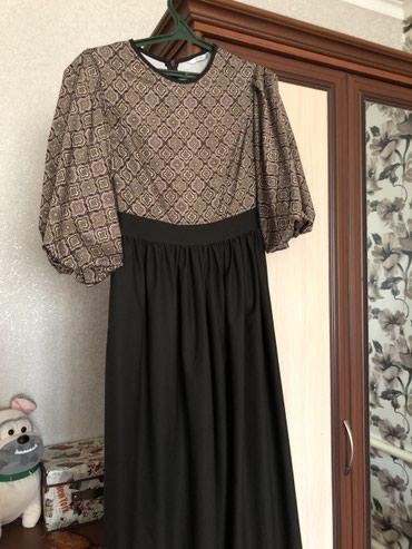 коричневое платье в пол в Кыргызстан: Продаю вечернее платье в пол,(в комплекте кожанный пояс)