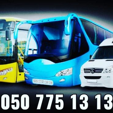 Bakı şəhərində 4-14, 14-20,20-33, 33-58 58-78 nəfərlik mikroavtobuslar və