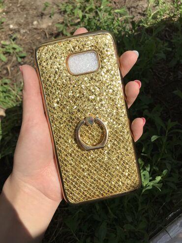 Чехол для телефона SAMSUNG S7 EDGE с кольцо держателем.  (100 сом, с