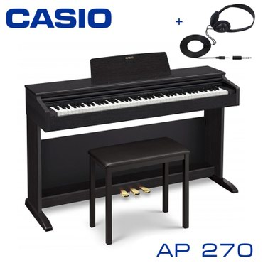 Пианино CASIO AP-270BK Банкетка CASIO CB-7BK Наушники CASIO CP-16  CAS