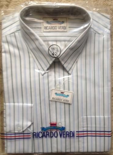Продаю новую рубашки,размер по вороту 42, хлопок+полиэстр, цена 1100