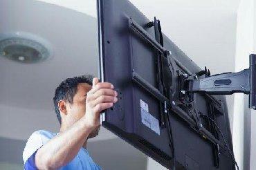 Установка телевизора на стене