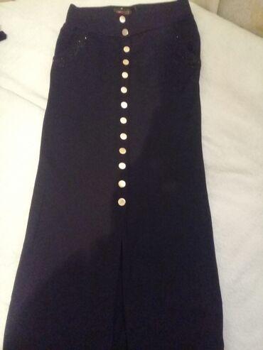 Длинная черная юбка в пол с разрезом один раз одета отдам за символиче