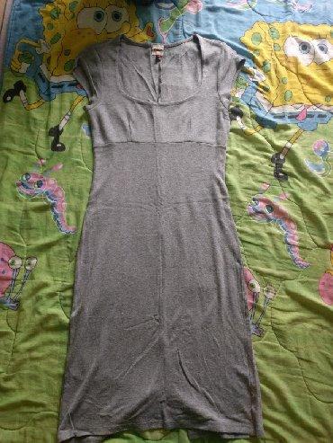 Duga leprsava haljina - Crvenka: Duga pamucna haljina,velicina S