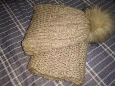 Зимний шапка с шарфиком качественное на счёт цены можем договорится