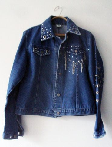 Продам куртку джинсовую синюю размер 46-48. в Бишкек