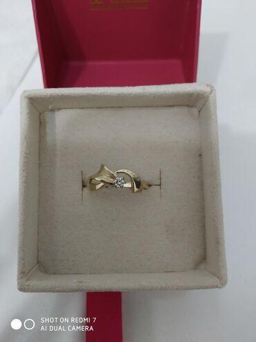 скупка золота 585 пробы в Кыргызстан: Кольцо с бриллиантом, жёлтое золото 585 пробы, Баку вес 2 грамма разме