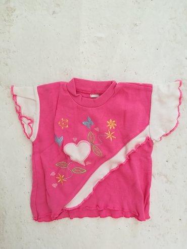 Dečiji Topići I Majice | Vranje: Pamučna majica sa karnerićima vel 4, obim grudi 50 cm, dužina 28 cm