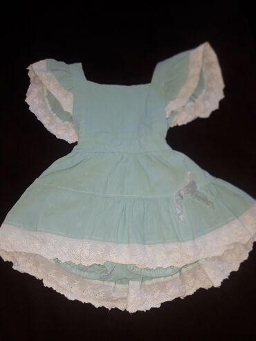 Детский мир - Кант: Продаётся платье на девочку приятного мятного цвета! на 1-2