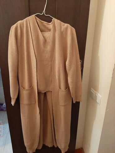 Женская одежда - Кой-Таш: Осенняя тройка новое: майка кардиган и штаны цвет самый модный в этом