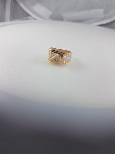 Печатка из красного золота 585проба размер кольца 21.5 в Бишкек - фото 4