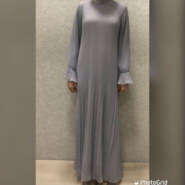 вечерние платья серого цвета в Кыргызстан: Продаю красивое платье. Цвет серый. Освещение не передаёт. Одевала на