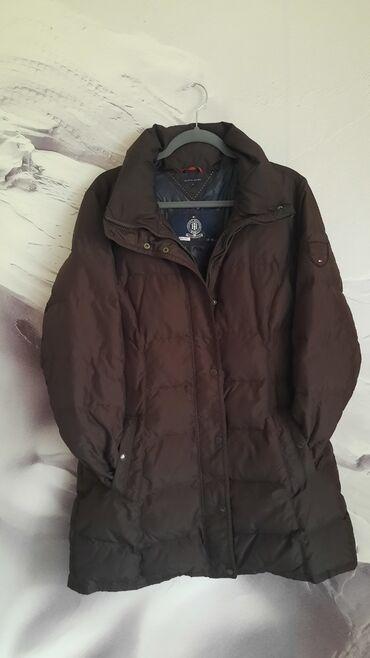 Ženske jakne | Nis: Tommy Hilfiiger XL perjana braon duža zimska jakna poznatog brenda. Bl