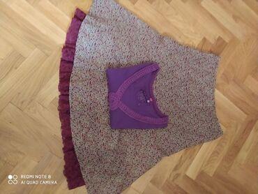 Mark-spenser suknja sitan somot sa čipkom vel 40(L) i ljubičasta