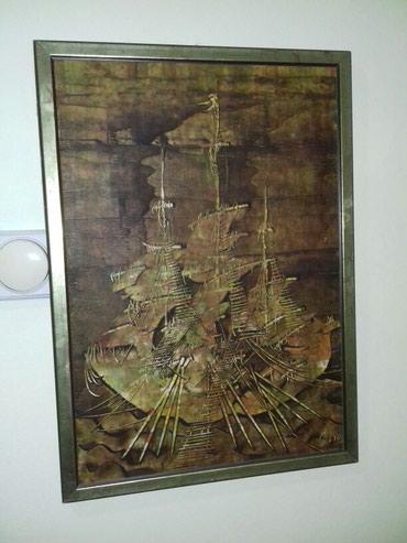 """Umetnika slika """"Brod"""". Dimenzije: visina: 53cm. sirina: 38cm. Za - Belgrade"""