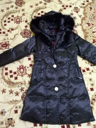 брендовые пуховики женские в Кыргызстан: Куртка пуховик  Длинный черный пуховик, согреет вас в холодные зимние