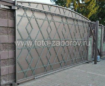Металлопрокат, швеллеры - Металлопрофиль - Бишкек: ВОРОТА И КАЛИТКИ !!! Откатные ворота с дистанционным управлением и