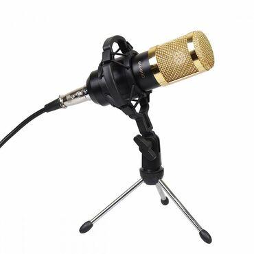 Конденсаторный микрофон BM800 на треноге Бишкек   Профессиональный ко