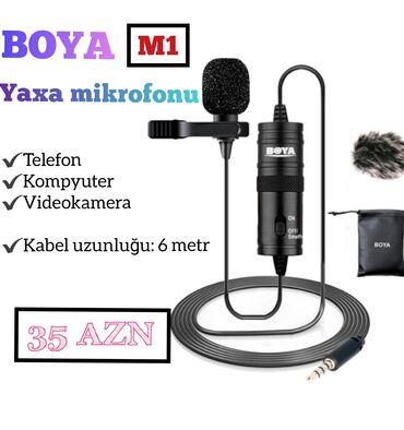 adlı - Azərbaycan: Yaxa mikrafonu Telefon,kompyuter və videokameralar üçün 6 metr uzunluq
