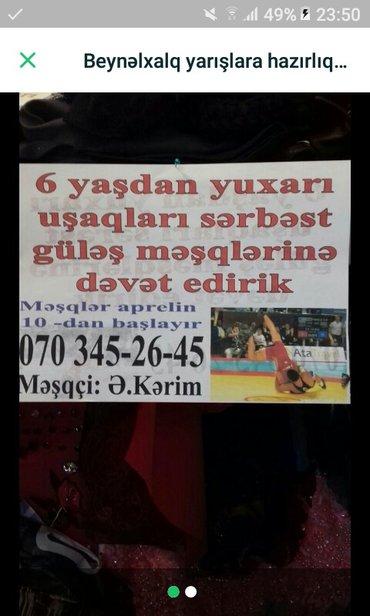 Bakı şəhərində Məşqlər peşəkar müəllim tərəfindən keçirilir tələsin yerlər məhduddur