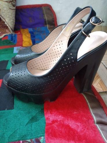 Женские босоножки, каблук 5см, чёрного в Бишкек