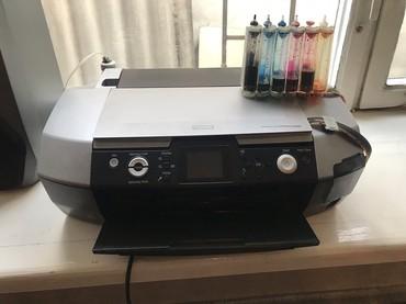 бу-принтеры в Кыргызстан: Продаю принтер цветной Epson R340. Не работают ролики приема бумаги