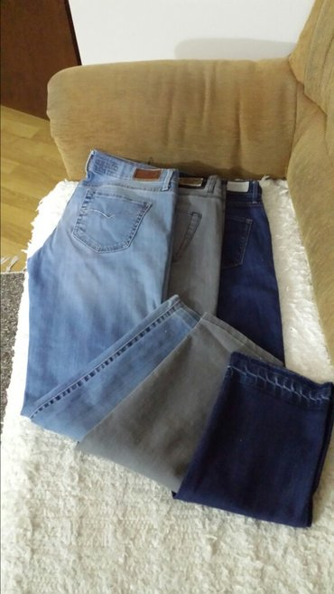 Farmerice plave tamno - Srbija: Legend farmerice, malo nošene bez oštećenja, tamno teget dužina 100cm