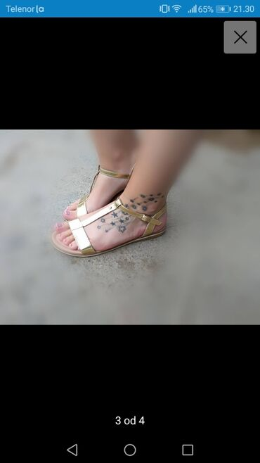 Posao inostranstvo - Srbija: Prelepe lagane zlatne sandale kupljene u inostranstvu promasen