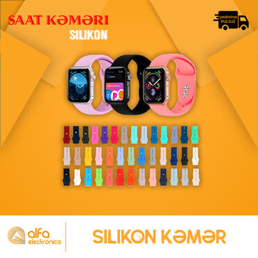 Apple Wtach Belt(Silikon və Metal Maqnitli)Smart Watch Kemeri 42/44 mm