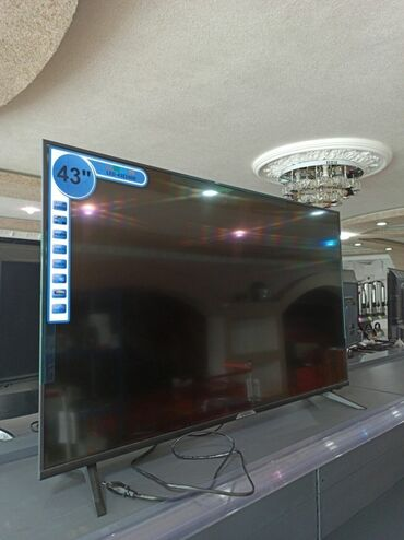dvb t2 в Кыргызстан: Телевизор Yasin LED43E5000 Диагональ 43 Порты-HDMI,DVB-S2,DVB-T2