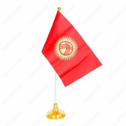цветы живопись в Кыргызстан: Флаг Кыргызской республики представляет собой полотнище красного